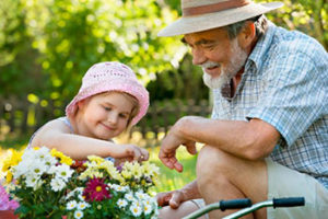 Intergenerational Care Grandfather and Child
